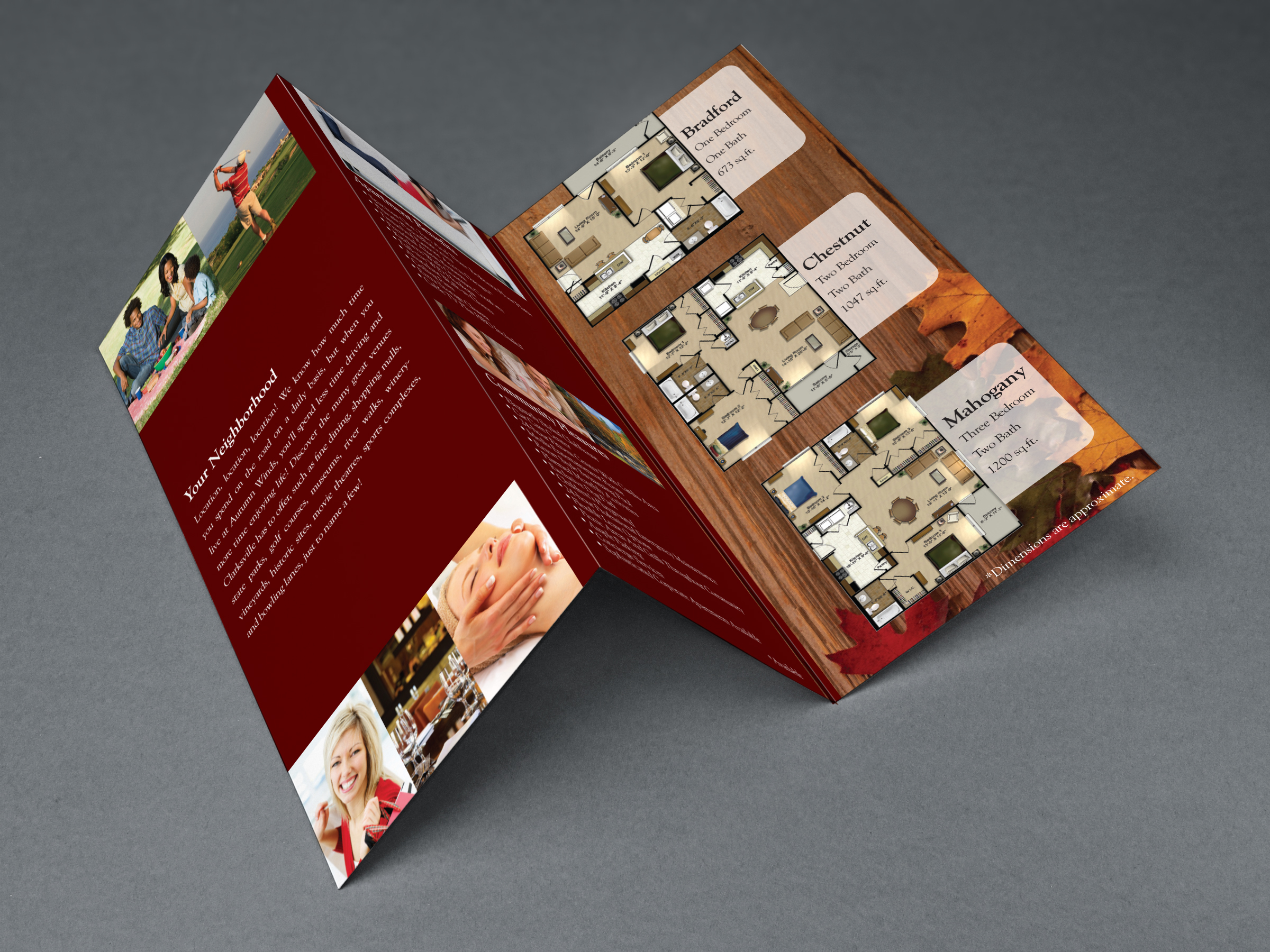 apartment brochure trifold