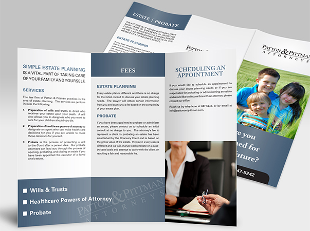 Natasha Mccracken - Graphic Designer - Law Firm Brochure